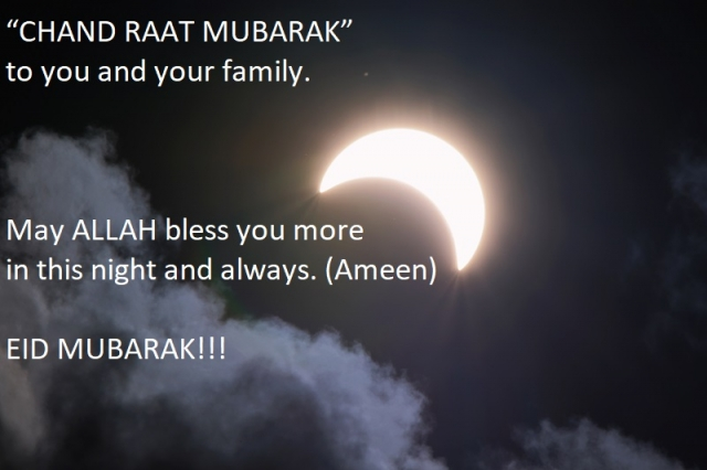 Happy Eid Chand Raat Mubarak Greeting Wishes Messages