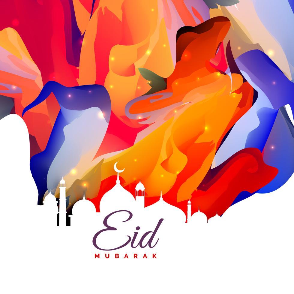 Eid Mubarak Greeting Card Free Download